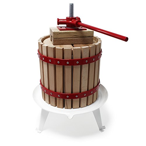 Wiltec 12L Obstpresse incl. Presstuch Maischepresse Weinpresse Apfelpresse Fruchtpresse